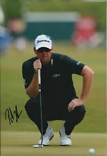 Peter HANSON SIGNED Autograph 12x8 Photo AFTAL COA Golf HSBC Abu Dhabi Emirates