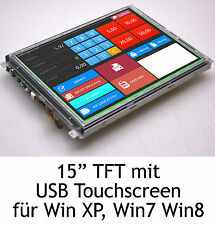 "38cm 15"" USB TOUCHSCREEN DISPLAY CANVYS PV760T SCHUTZPLATTE F. WIN2000 XP 7 8 -2"