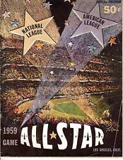 1959 Baseball All Star program @ Los Angeles Dodgers, unscored ~Fair/Poor