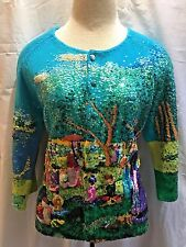Michael Simon Sweater Small Seurat Sunday Afternoon Grande Jatte Impressionist