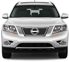 FITS NISSAN PATHFINDER 2013-2015 STAINLESS CHROME MESH GRILLE TOP INSERT OVERLAY
