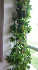 Set of 4 Artificial Maple Leaf Vines Ivy Hanging Garland