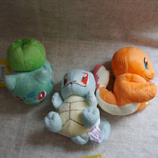 "NEW POKEMON POKE DOLLS 3pcs Bulbasaur Charmander Squirtle 4"" PLUSH DOLLS"