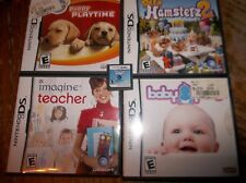 (5) DS GAMES - PETZ - PUPPY PLAYTIME - DOGZ 2-HAMSTER 2-BABY PALS-IMA TEACHER