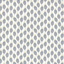 Moda V and Co. Color Me Happy Floral Sprouts Fabric in Gray 10822-17