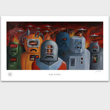 Japan Tin Robot Space Man Art, UFO, Space Toy, Robot Poster, Robot Art, PADLO