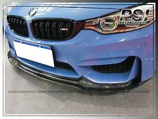 V Type Carbon Fiber Front Bumper Add-On Lip fit BMW F82 M4 F80 M3 2015+ CF