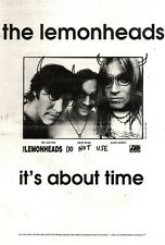 "20/11/93PGN17 THE LEMONHEADS : IT'S ABOUT TIME ADVERT 15X11"" DO NOT USE"
