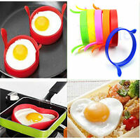Kitchen Silicone Egg Frier Fry Fried Oven Pancake Poacher Poach Ring Mould Tool