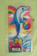 NEW VINTAGE LISA FRANK PENCIL PALS CASE/BAG 3-RING ZIPPER POUCH DOLPHINS W/BALL