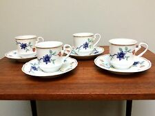 HAVILAND Limoge France SHALIMAR Flat Demitasse Cups & Saucers - 4 Sets