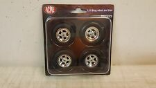ACME 1:18 CRAGAR DRAG WHEEL AND TIRE SET - CHROME - A1806702W - IN STOCK