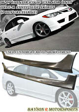 TR-Style Side Skirts (PP) Fits 06-11 Civic CSX 4dr Sedan