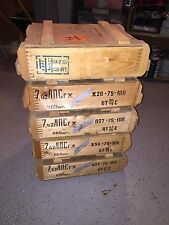 5 Russian 7.62x54R Spam Can Ammo Crates from 1975 - Mosin Nagant Soviet CCCP box