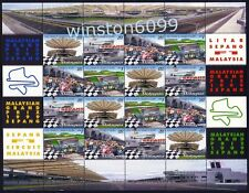 Malaysia 1999 Car Racing Grand Prix F1 Sepang 16v Stamps Sheetlet Mint NH