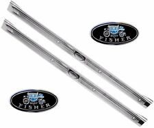 """67 68 69 Camaro Firebird Sill Scuff Plates with GM Decals """"Body by Fisher"""" Pair"""