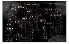 Histoire History poster Crowned Millenium subject roi familles arbre généalogique