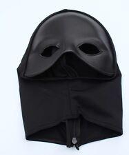 Ojo máscara de cuero con LYCRA CAMPANA Fetiche Máscara GIMP Capucha por Ledapol Ajustable