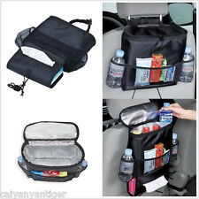 1P Picnic Backpack Car Seat Organizer Insulated Drinks Cooler Travel Storage Bag