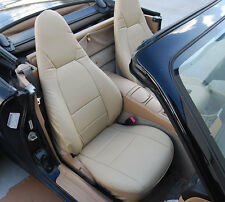 MAZDA MIATA 2001-2005 BEIGE VINYL CUSTOM MADE FIT FRONT SEAT COVERS