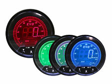 85mm EVO DIGITAL Speedometer Gauge LED  BLUE RED GREEN WHITE + GPS Sensor KM/H
