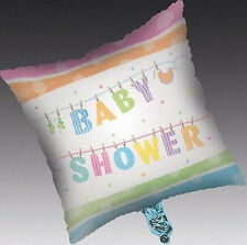 "New Baby Shower Party Baby Clothes Line Square Foil Balloon 18"" Unisex Free P&P"