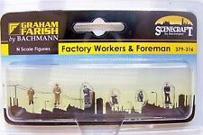 N scale Scenecraft FACTORY WAREHOUSE WORKERS and FOREMAN Figures  # 316