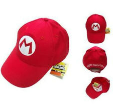 NEW Super Mario Bros Anime Cosplay Kids Hat Mario M Cap Red Wii Nintendo