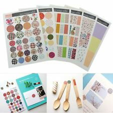6 Sheet Vintage Paper Stickers Diary Book Scrapbook Planner Label Craft Decal