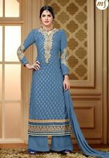 Designer Pure Brasso Salwar Kameez Blue Color Good Quality Party Wear Suit