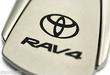 Toyota RAV4 Silver Grey Key Chain Metal Key Ring Fob Lanyard TRD