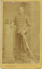 Photo cdv : Dubordieu  ; Grenadier d'un régiment de l'Artillerie , vers 1872