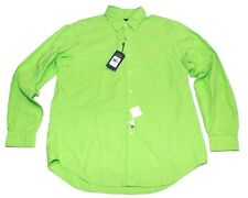 Polo Ralph Lauren 710521849005 L/S Oxford Button Shirt NWT Sz L $98 Neon Green