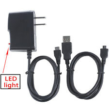 1A AC Battery Power Charger Adapter +USB Cord for Samsung CAMERA ST200 F ST201 F