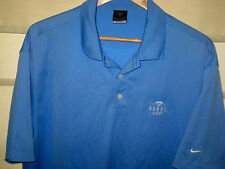 NIKE GOLF DRI-FIT POLY UV PROTECT DORAL COUNTRY CLUB GOLF SHIRT-NICE! - XL