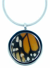 Real Monarch Butterfly Wing Pendant Necklace - Monarch Butterfly Jewelry