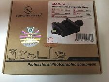 """Sunwayfoto Manfrotto/Arca Compatible Clamp MAC-14 Jaw Length 60mm/3/8"""" Screw"""