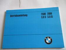 BMW E3 E 3.0 Si 2500 2800 Bedienungsanleitung Betriebsanleitung Handbuch manual