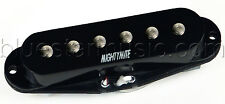 Mighty Mite PSS-M Vintage Single Coil Low Noise Strat Middle Pickup, RWRP, Black