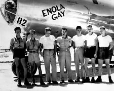 B-29 ENOLA GAY WITH CREW 8X10 PHOTO WWII PAUL TIBBETS