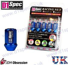 D1 SPEC RACING WHEEL NUTS BLUE P1.5 MAZDA LEXUS TOYOTA HONDA MITSUBISHI FORD JDM