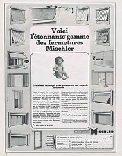 PUBLICITE ADVERTISING 094 1967 MISCHLER fermetures porte de garage volets