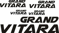 SUZUKI  GRAND VITARA car wing mirror body bumperdecals vinyl stickers x 5