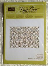Retired Stampin' Up Embossing Folder - LACY BROCADE - Brand New in Package