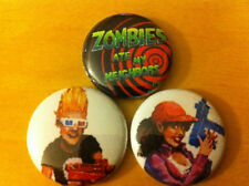"Set of 3 Zombies Ate My Neighbors 1"" Pins Buttons SNES Nintendo ghoul patrol !!!"