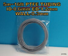 5m 16ft PTFE TEFLON TUBING PIPE ID-0.6mm  ED-1,2mm WALL-0.3mm  23AWG WIRE GREY