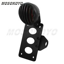 Motorcycle LED Brake Tail Light Side Mount License Plate Bracket For Harley New
