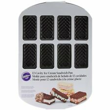 Wilton 12 Cavity Ice Cream Sandwich Brownie Cookie Mini Cake Pan Tray 2105-0325