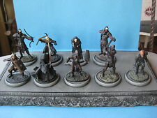 9 figurines en plomd le seigneur des anneaux les Orcs 54 mm vendu avec socle