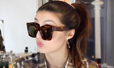 TILDA Sunglasses BROWN womens oversized square large big huge xl wayfarer 41076